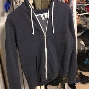 Plain blue zip up hoodie